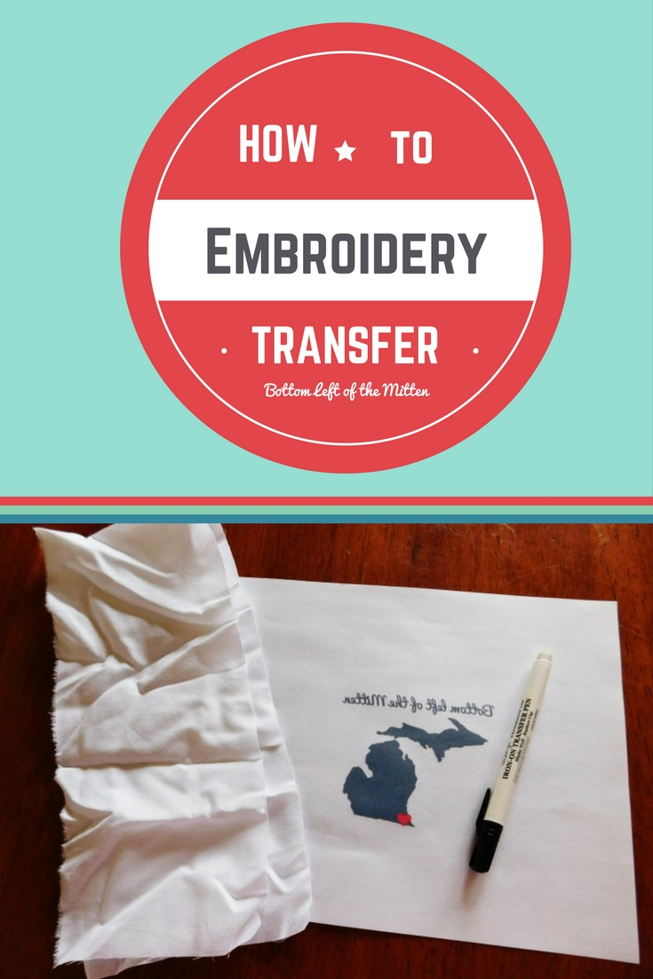Embroidery Transfer | Bottom Left of the Mitten #embroidery #howto