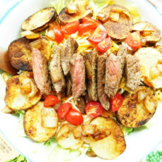 Cajun Steak & Potato Salad | Bottom Left of the Mitten