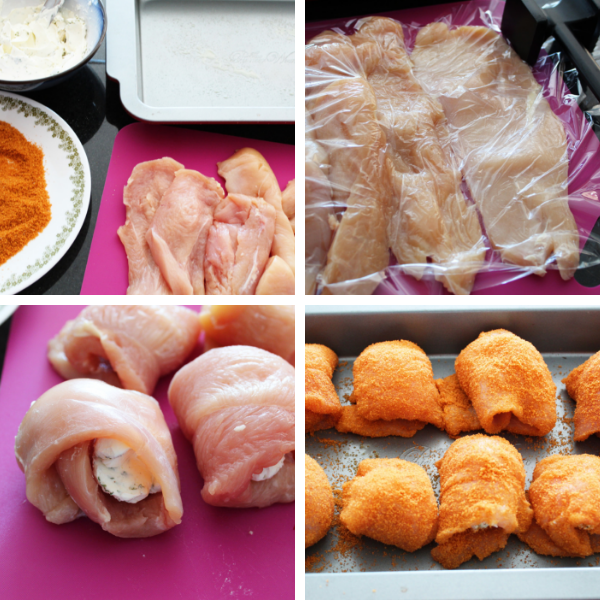 How to make Cream Cheese Stuffed Chicken Roll Ups