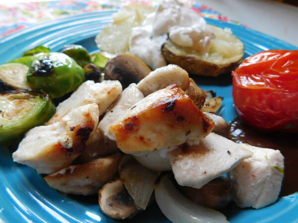'Un' Shish Kabob. Wonderful quick meal for summer.