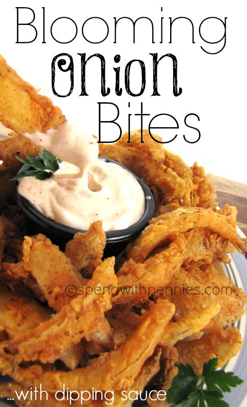Blooming Onion Bites with Dipping Sauce from Spend With Pennies
