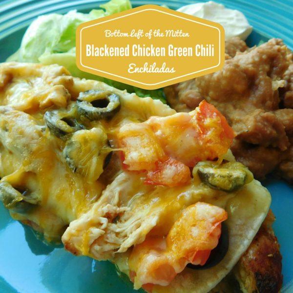 Blackened Chicken Green Chili Enchiladas. Blackened chicken takes these Green Chili Enchiladas to the next level.