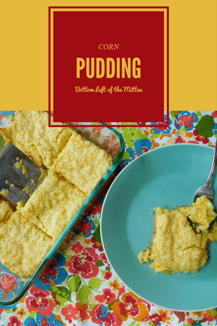 Dig into this delicious side dish perfect for a summer BBQ. Slightly sweet and bursting with corn straight from the stalk. Corn Pudding from Bottom Left of the Mitten