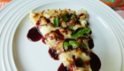 White Chicken Pizza with Basil & Blackberry Sauce from Bottom Left of the Mitten