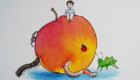 James And The Giant Peach Greeting Card from SarahTuleArtworks, a Michigan based Etsy Store