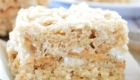 Toasted Marshmallow Vanilla Bean Rice Krispie Treats from Good Morning Cali