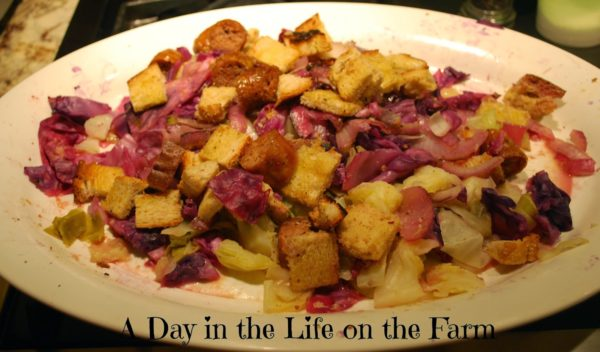 German Brat Salad with Beer-Horseradish Vinaigrette from A Day in the Life on the Farm