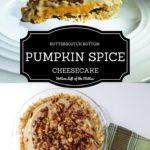 Two shots of Butterscotch Bottom Pumpkin Spice Cheesecake