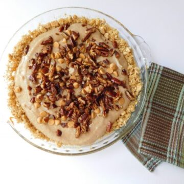 Butterscotch Bottom Pumpkin Spice Cheesecake overhead shot