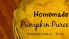 Homemade Pumpkin Puree from Crunchy, Crafty & Highly Caffeinated