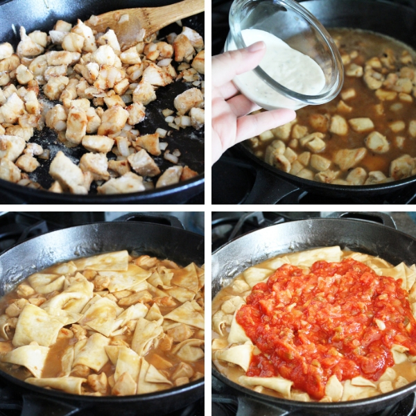 Steps of how to make Salsa Chicken Skillet.