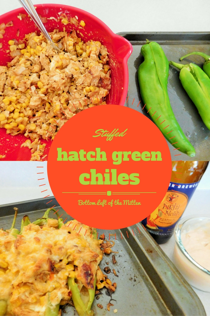 Stuffed Hatch Green Chiles from Bottom Left of the Mitten