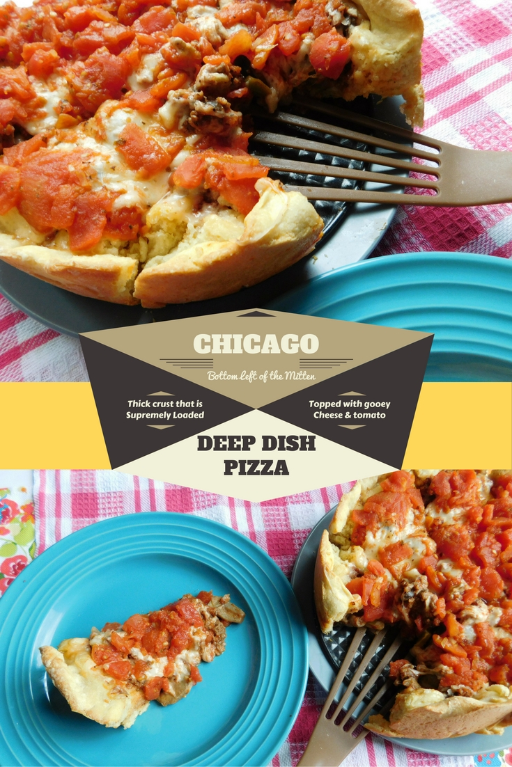 Chicago Deep Dish Pizza from Bottom Left of the Mitten