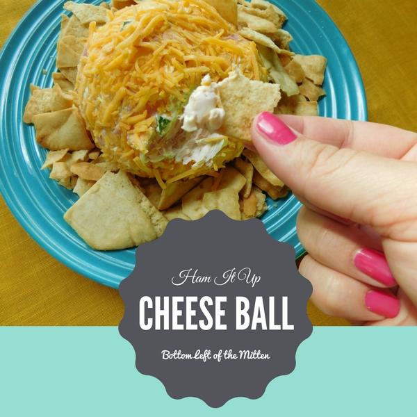 Ham It Up Cheese Ball | Bottom Left of the Mitten