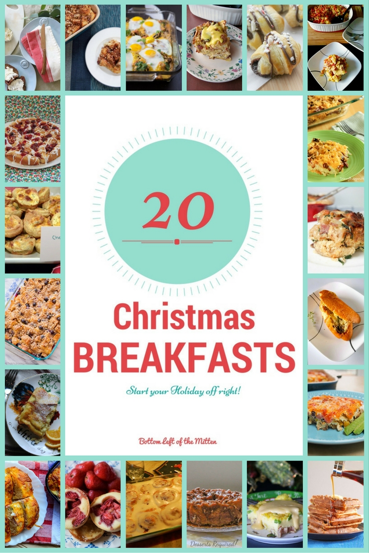 20 Christmas Breakfast Recipe Roundup | Bottom Left of the Mitten #breakfast #christmas #holiday