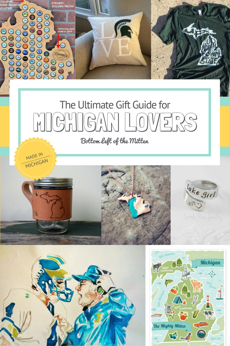 Michigan Lovers Gift Guide| Bottom Left of the Mitten #michigan #giftguide