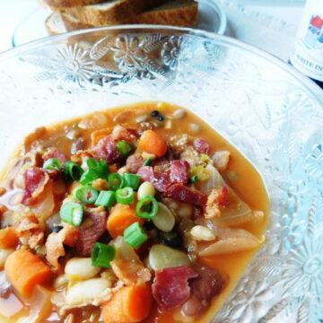 Thirteen Bean & Bacon Soup | Bottom Left of the Mitten