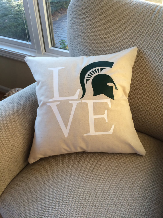 Michigan State pillow cover | Live In The MomentGifts