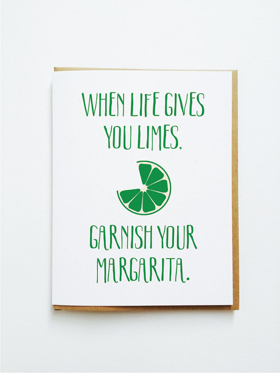 When Life Gives You Limes card from Tick Tock Press | 'Celebrate with 8' for National Margarita Day | Bottom Left of the Mitten