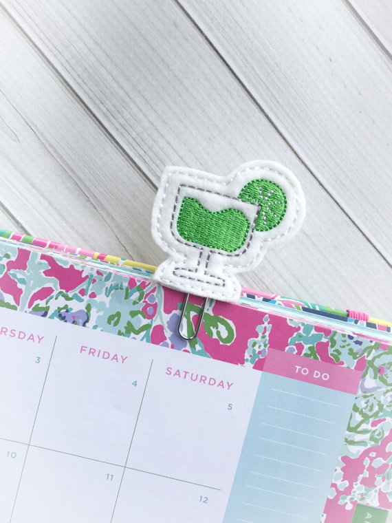 Margarita Paper Clip from Nonies Custom Creation | 'Celebrate with 8' for National Margarita Day | Bottom Left of the Mitten
