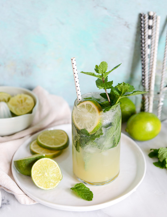 Mojito Margaritas from How Sweet It Is | 'Celebrate with 8' for National Margarita Day | Bottom Left of the Mitten