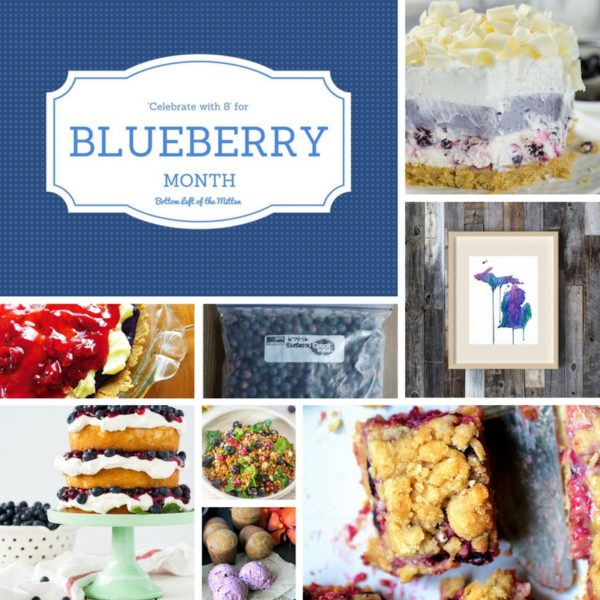 'Celebrate with 8' for Blueberry Month   Bottom Left of the Mitten