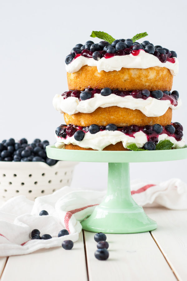 Blueberry Shortcake from Liv For Cake   Bottom Left of the Mitten 'Celebrate with 8' for Blueberry Month