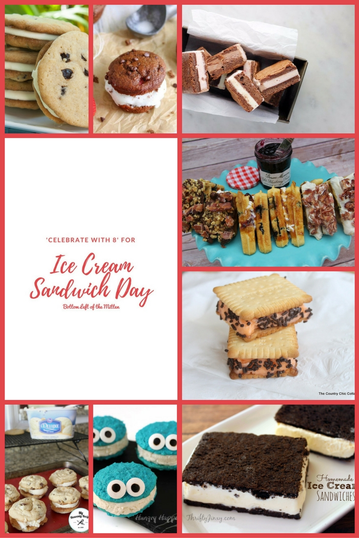 'Celebrate with 8' for Ice Cream Sandwich Day | Bottom Left of the Mitten #icecream #icecreamsandwich #summerrecipe