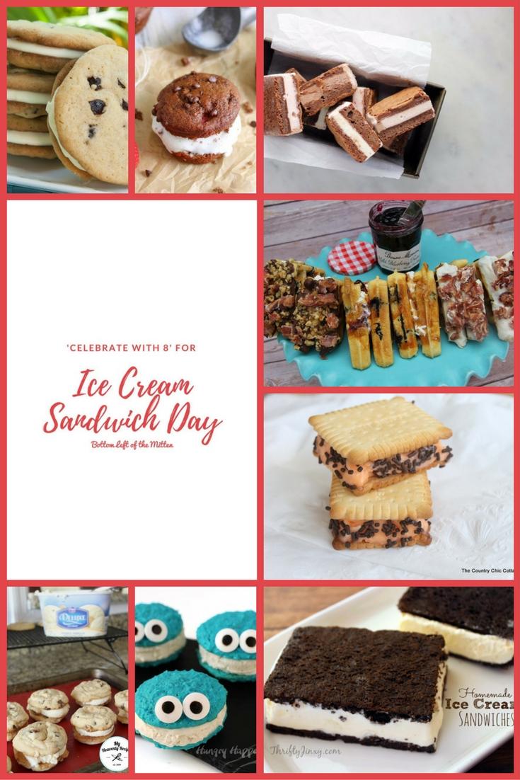 'Celebrate with 8' for Ice Cream Sandwich Day   Bottom Left of the Mitten #icecream #icecreamsandwich #summerrecipe
