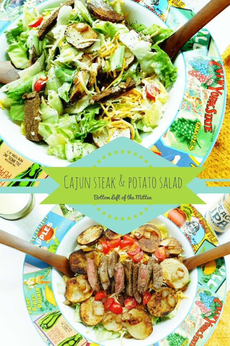 Cajun Steak & Potato Salad | Bottom Left of the Mitten #salad #beef #dressingrecipe