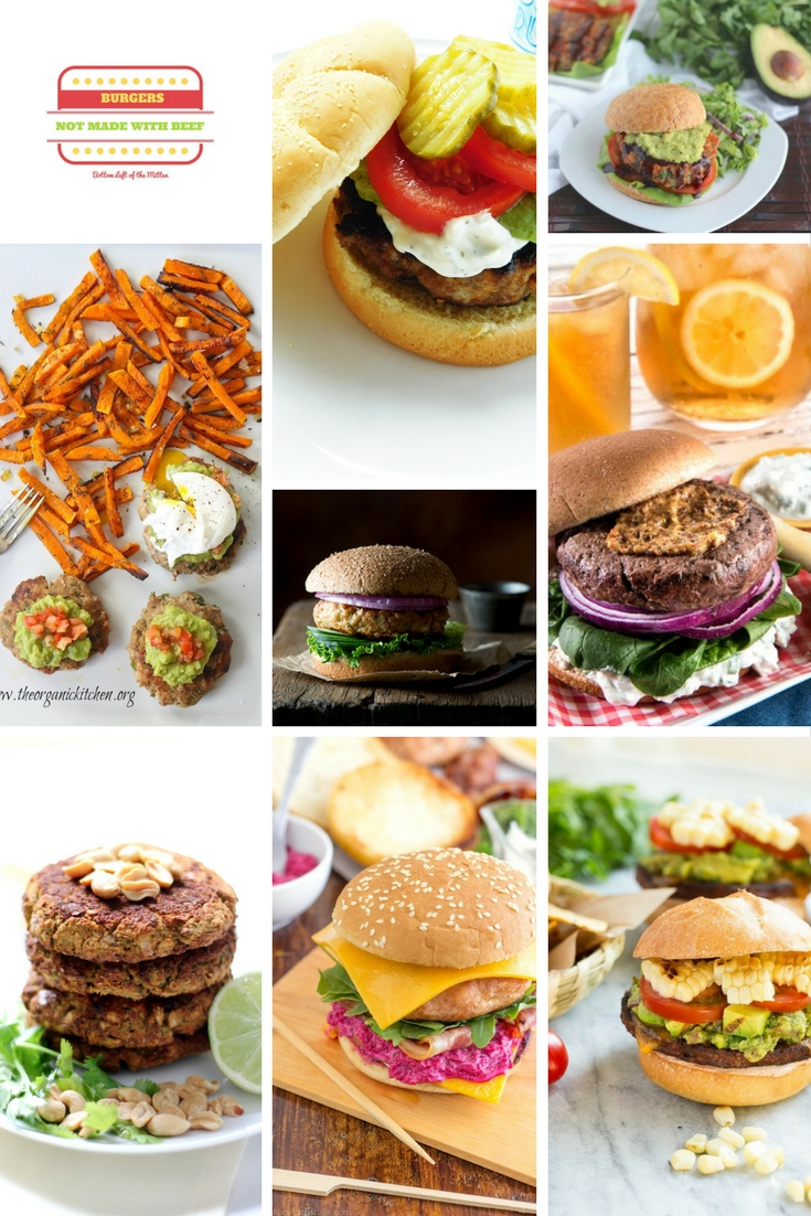 'Celebrate with 8' Burgers That Aren't Beef | Bottom Left of the Mitten #ruekyburger #veggieburger #burgerrecipes