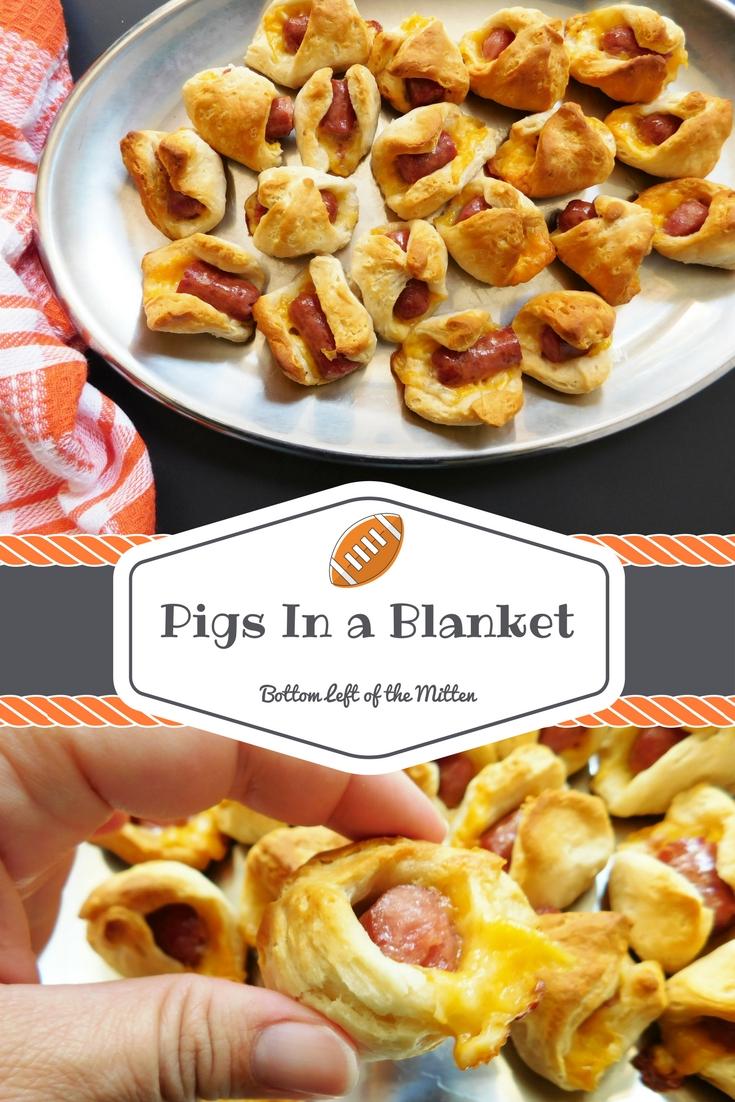 Pigs In a Blanket | Bottom Left of the Mitten #appetizer #footballfood #pigsinablanket