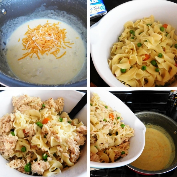 How to make tuna casserole step-by-step.