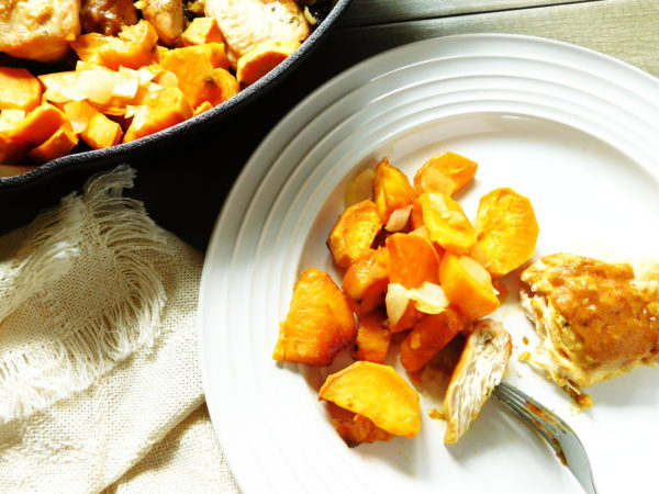 Skillet Sweet Dijon Chicken & Potatoes | Bottom Left of the Mitten