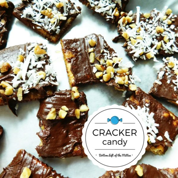 Cracker Candy broken up and ready to eat.