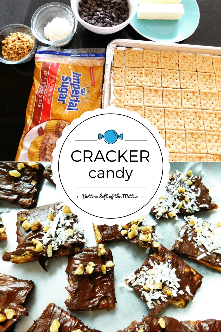 Cracker Candy | Bottom Left of the Mitten #crackercandy #toffee #christmascandy