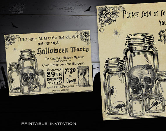 Halloween Party Invitation from X3designs | Halloween Gift Guide | Bottom Left of the Mitten