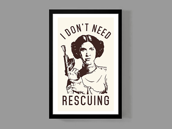 Star Wars: Princess Leia Poster from MusicAndArtCoUSA | Star Wars Gift Guide | Bottom Left of the Mitten