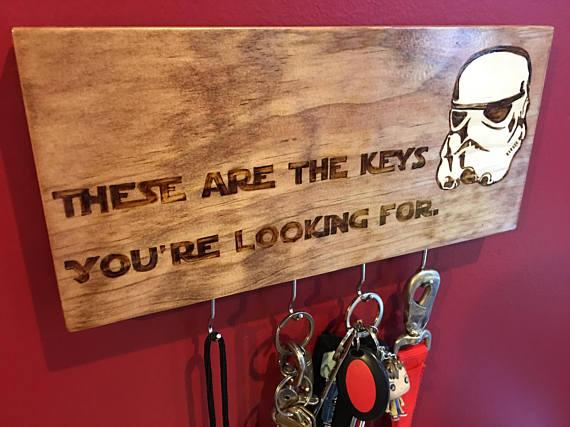 Star Wars Stormtrooper Key Rack from NobbinsBobbinsNBling | Star Wars Gift Guide | Bottom Left of the Mitten