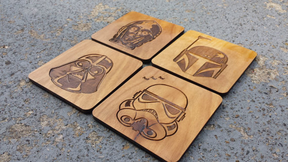 Star Wars Coaster Set from PipperilloStudios | Star Wars Gift Guide | Bottom Left of the Mitten