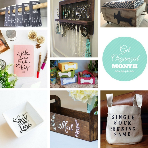 'Celebrate with 8' for Get Organized Month   Bottom Left of the Mitten #organized #gifts #january