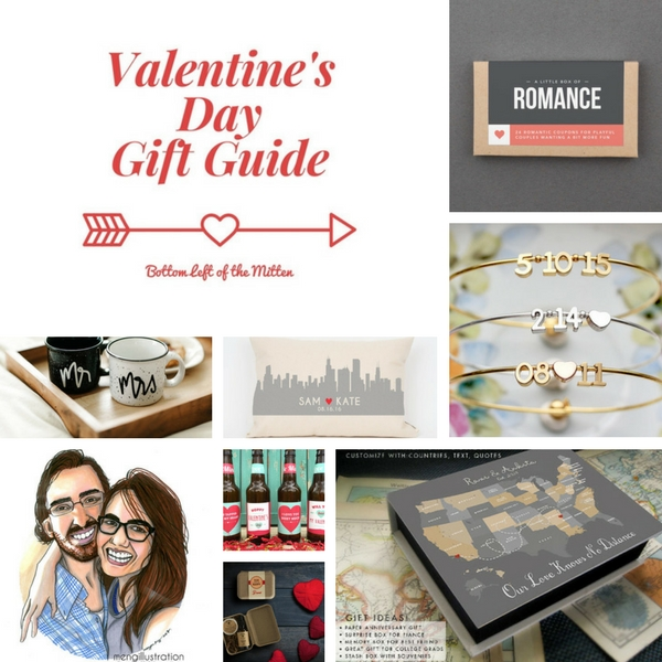 Valentine's Day Gift Guide | Bottom Left of the Mitten