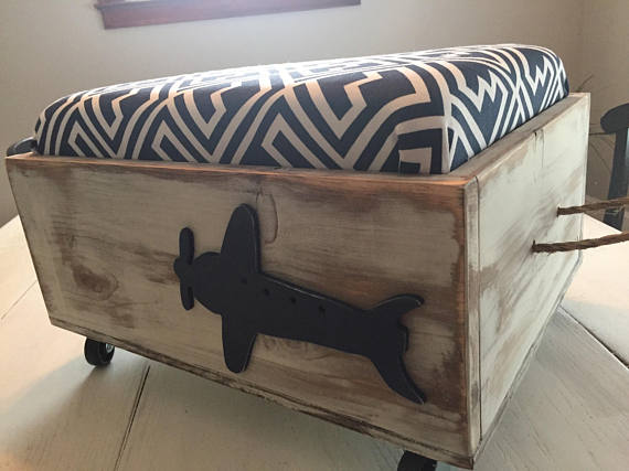 Navy Airplane Toy Box from belliesop   'Celebrate with 8' for Get Organized Month   Bottom Left of the Mitten