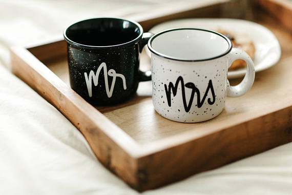 Mr and Mrs Mugs from BeholdenPrints | Valentine's Day Gift Guide | Bottom Left of the Mitten