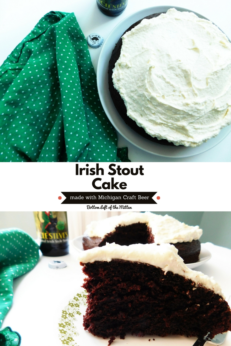 Irish Stout Cake | Bottom Left of the Mitten #cake #cookingwithbeer #michigancraftbeer
