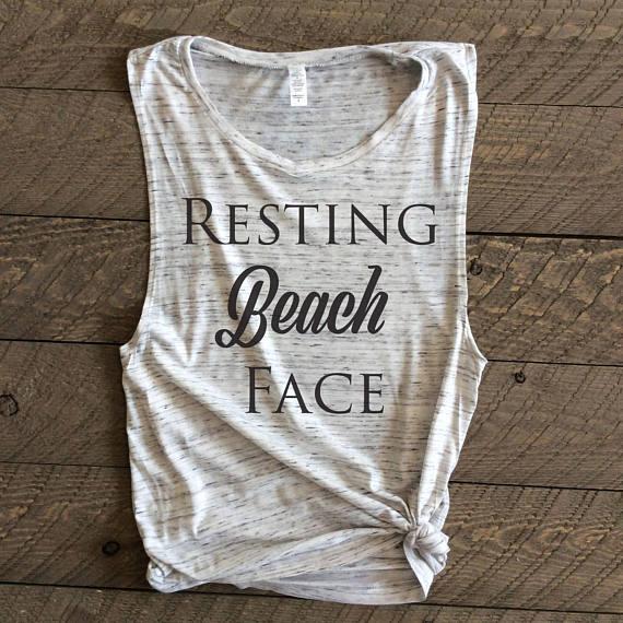 Resting Beach Face T-Shirt from Vodka Lemonade | Spring Break Must Haves| Bottom Left of the Mitten