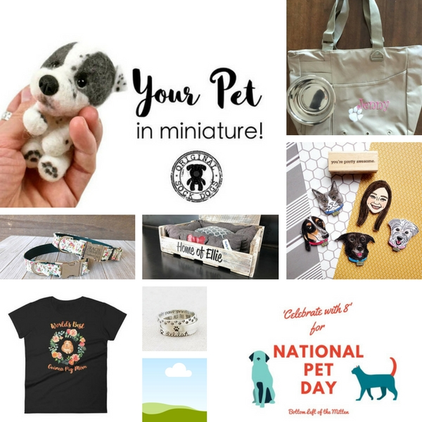 Celebrate with 8 for National Pet Day | Bottom Left of the Mitten