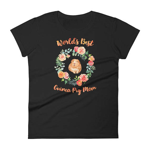 World Best Guinea Pig Mom TShirt from Blessed Society | Celebrate with 8 for National Pet Day | Bottom Left of the Mitten
