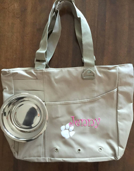 Puppy Tote from MJMonograms | Celebrate with 8 for National Pet Day | Bottom Left of the Mitten