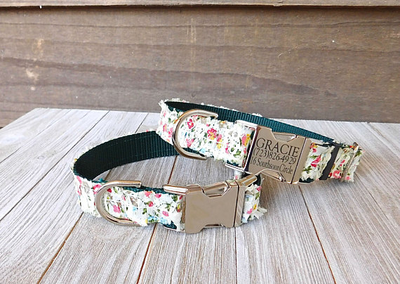 Personalized Pet Collar from MuttsnBones | Celebrate with 8 for National Pet Day | Bottom Left of the Mitten